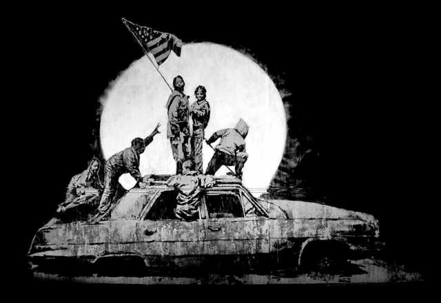 Banksy, 'Flag', 2006, Print, Screeprint on Silver Chromolux paper, West Chelsea Contemporary