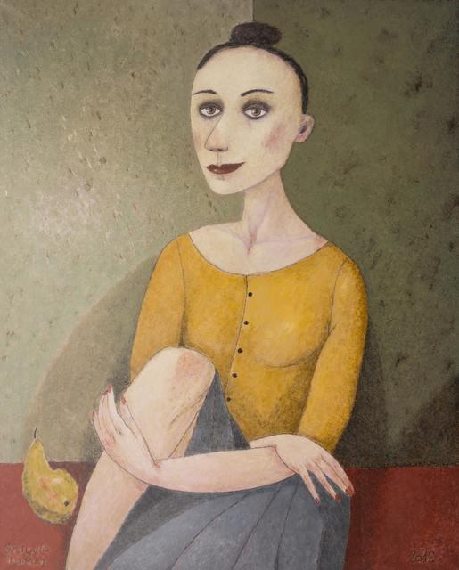 , 'Girl with pear,' , Great Banyan Art