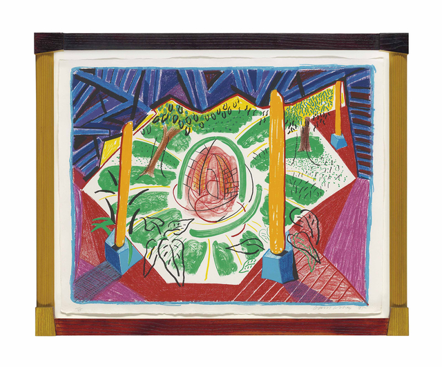 David Hockney, 'View of Hotel Well II', 1985, Upsilon Gallery