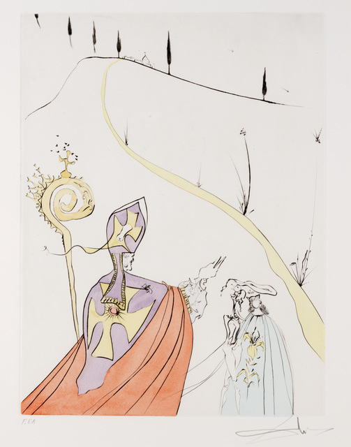 Salvador Dalí, 'L'Amour Sacre de Gala from Apres 50 Ans du Surrealisme', Dallas Museum of Art