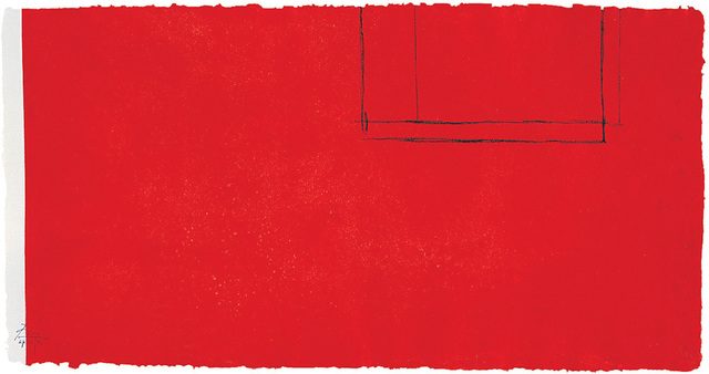 , 'Red Open With White Line,' 1979, Bernard Jacobson Gallery