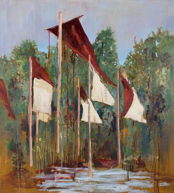 , 'Flags,' 2018, Parafin