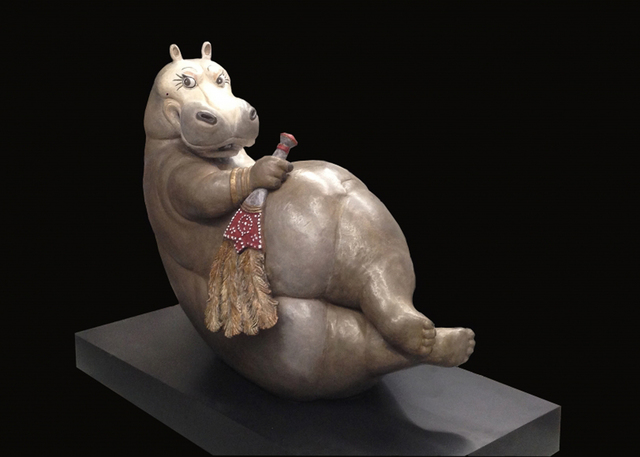 , 'Hippo Odalisque,' 2014, Cavalier Galleries