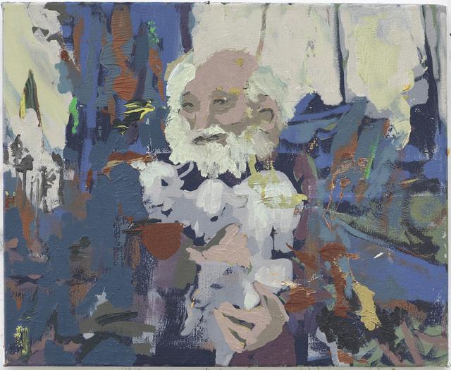 , 'Hermit Holding Lambs,' 2010, Nina Johnson
