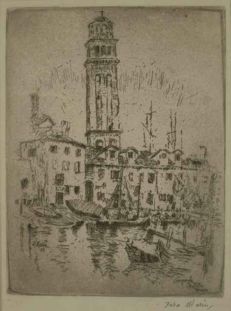 John Marin (1870-1953), 'Capanile San Pietro, Venice', 1907, Private Collection, NY