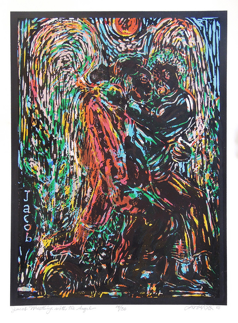 , 'Jacob Wrestling with the Angel,' 2015, Greenhut Galleries