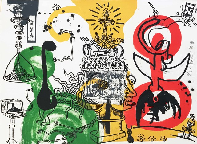 Keith Haring, 'The King', 1989, Hamilton-Selway Fine Art