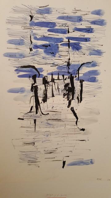 , 'dessin au pinceau 3,' 1957, Galerie Marie-Robin