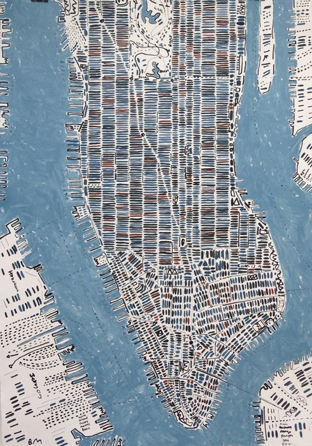 Barbara Macfarlane, 'Blue Slate And Rust Manhattan', 2016, Rebecca Hossack Art Gallery