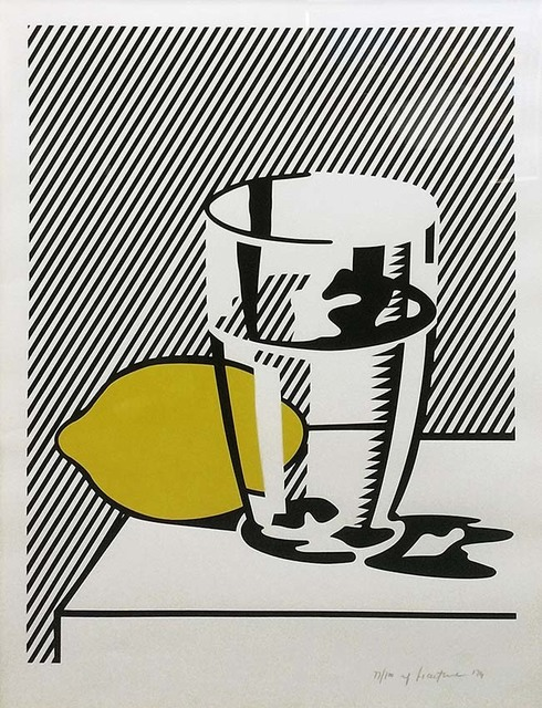 Roy Lichtenstein, 'UNTITLED (STILL LIFE WITH LEMON AND GLASS)', 1974, Marcel Katz Art