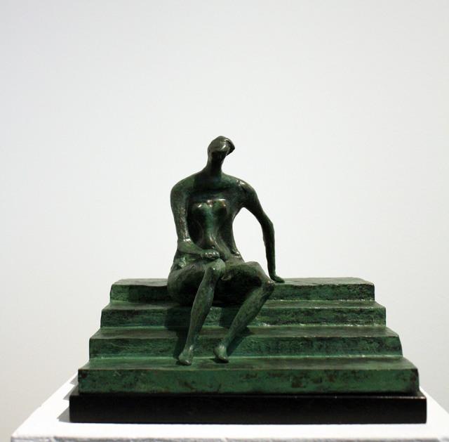 , 'Seated Figure On Square Steps,' 1957, Davidson