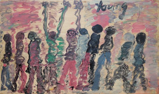 Purvis Young, 'Ancestors', 1995, Galerie Sébastien Bertrand