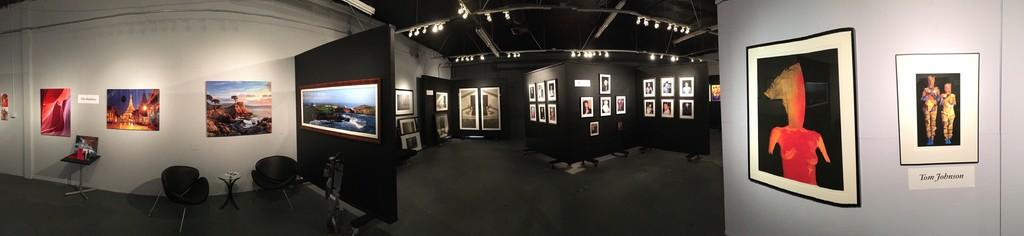 Back gallery installation shot (from left): The Henebry's, Sherri Breyer, Tony Rizzo, Tom Johnson