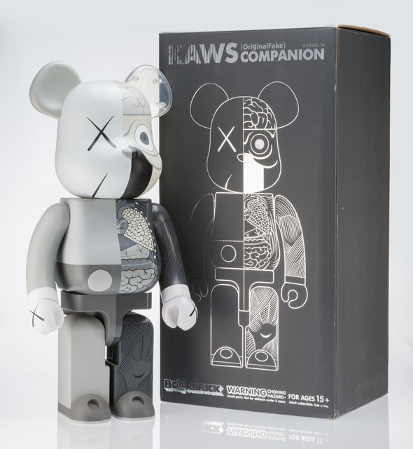 KAWS, 'Dissected Companion 1000% (Grey)', 2010, Other, Painted cast resin, Heritage Auctions