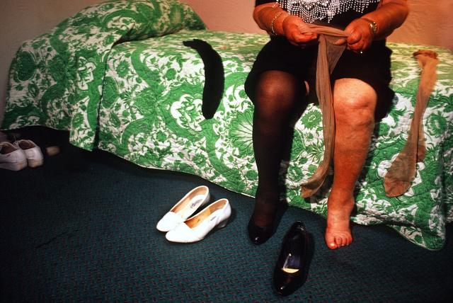 Naomi Harris, 'Rhea Changing Her Stockings, Haddon Hall Hotel, Miami Beach, FL', 1999, Circuit Gallery