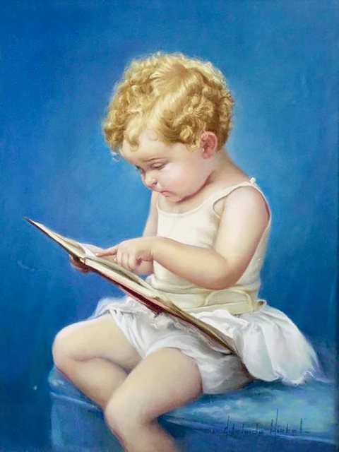 Adelaide Hiebel, 'Young Girl Reading a Book', 20th Century, The Illustrated Gallery
