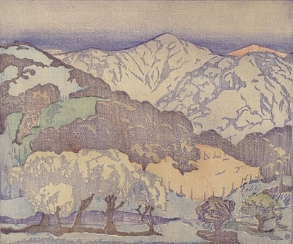 , 'California Hills - lighter palette; monoprint,' ca. 1934, Scholten Japanese Art