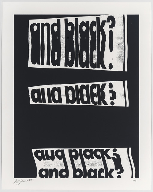 , 'and black?,' 2017, Art+Culture Projects