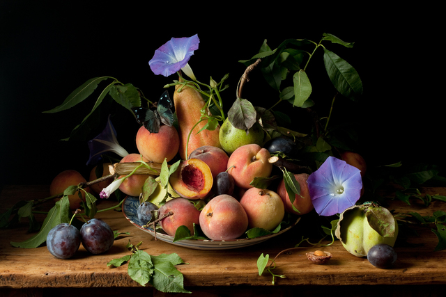 , 'Peaches and Morning Glories, after G.G.,' 2010, Robert Klein Gallery