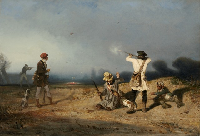 Alexandre-Gabriel Decamps, 'Bird Hunting', 1830, Painting, Oil on canvas, Clark Art Institute
