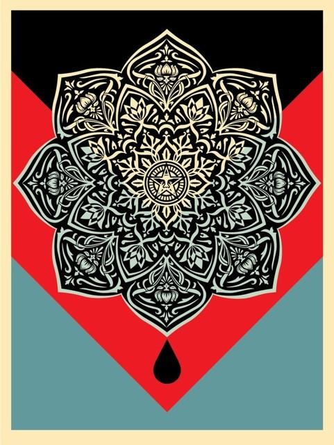 Shepard Fairey (OBEY), 'Blood & Oil Mandala ( Oil Drop)', 2017, Dope! Gallery