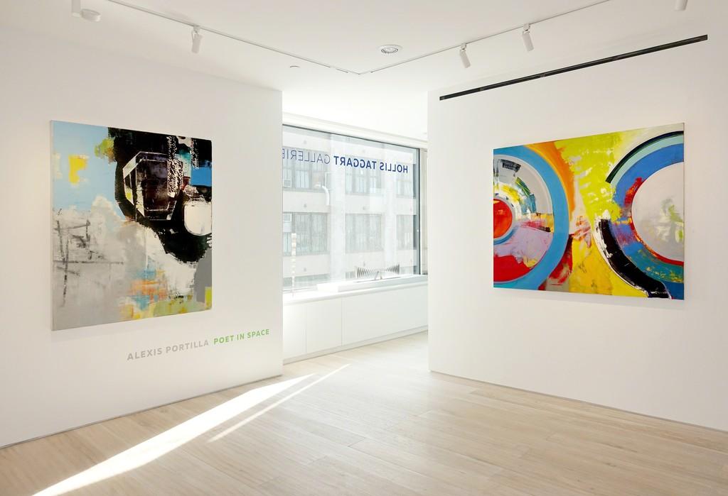 """Installation view: """"Alexis Portilla: Poet in Space"""""""