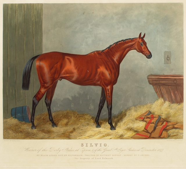 Edward Gilbert Hester after Harry Hall, 'Silvio', 1877, Print, Hand-colored aquatint on paper, Clark Art Institute