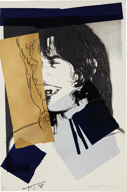 Andy Warhol, 'Mick Jagger', 1975, Print, Screenprint in colors, on Arches Acquarelle paper, the full sheet, Phillips