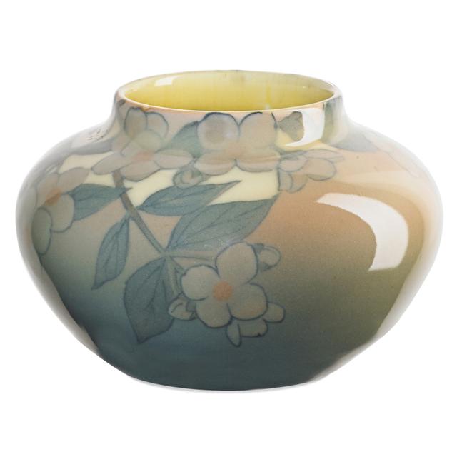 Kataro Shirayamadani, 'Rookwood, Ivory Jewel Porcelain Vase With Dogwood Blossoms (Uncrazed), Cincinnati, OH', 1929, Design/Decorative Art, Rago/Wright