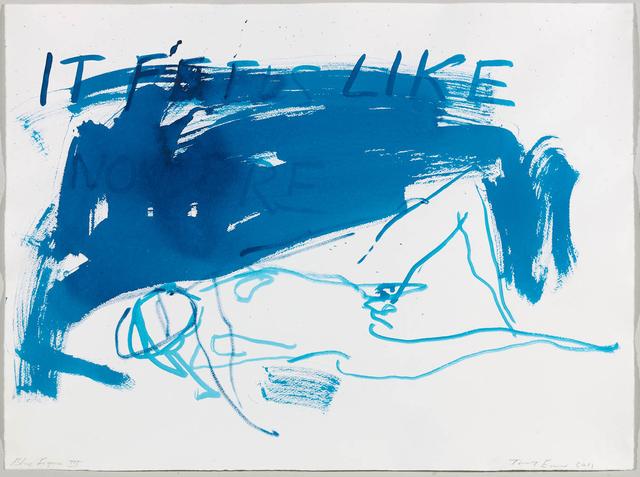 Tracey Emin, 'Blue Figure III', 2013, Oliver Clatworthy