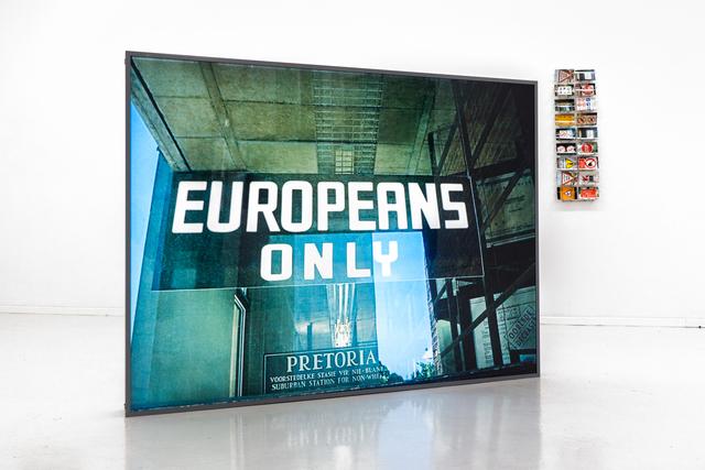 , 'Europeans Only,' 2012, Propaganda
