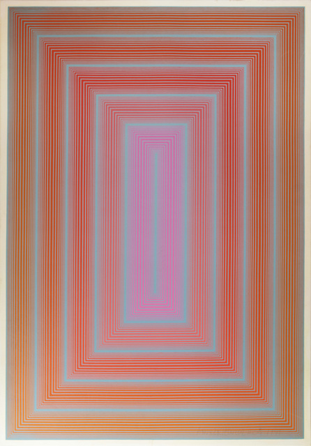 , 'Reflections I- Blue Line With Mauve Center,' 1979, David Richard Gallery