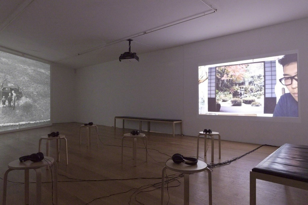 Installation view David Claerbout at Galerie Rüdiger Schöttle, 2015.