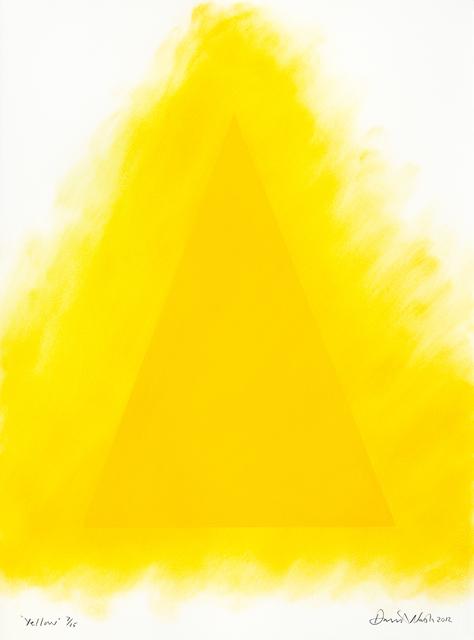 David Nash, 'Yellow', ca. 2012, Print, Pastel stencil on paper, Cristea Roberts Gallery