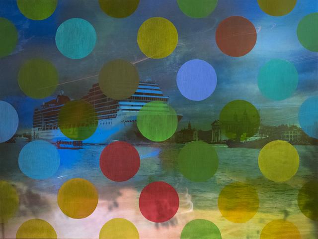 Sarah Nind, 'Pistes et Points - Venezia! 2', 2015, Photography, Archival Pigment Print on Panel with Oil, Newzones