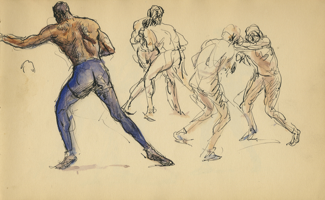 , 'Outside Fighters,' 1929, Anthony's Fine Art