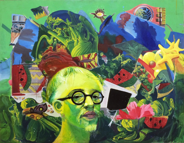 , 'Selfportait with greenery,' 1998, Robert Kananaj Gallery