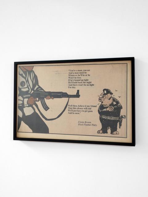 "Emory Douglas, '""We'll just have to get guns and be men""', 1970, Ephemera or Merchandise, Newspaper, Bim Bam Gallery"