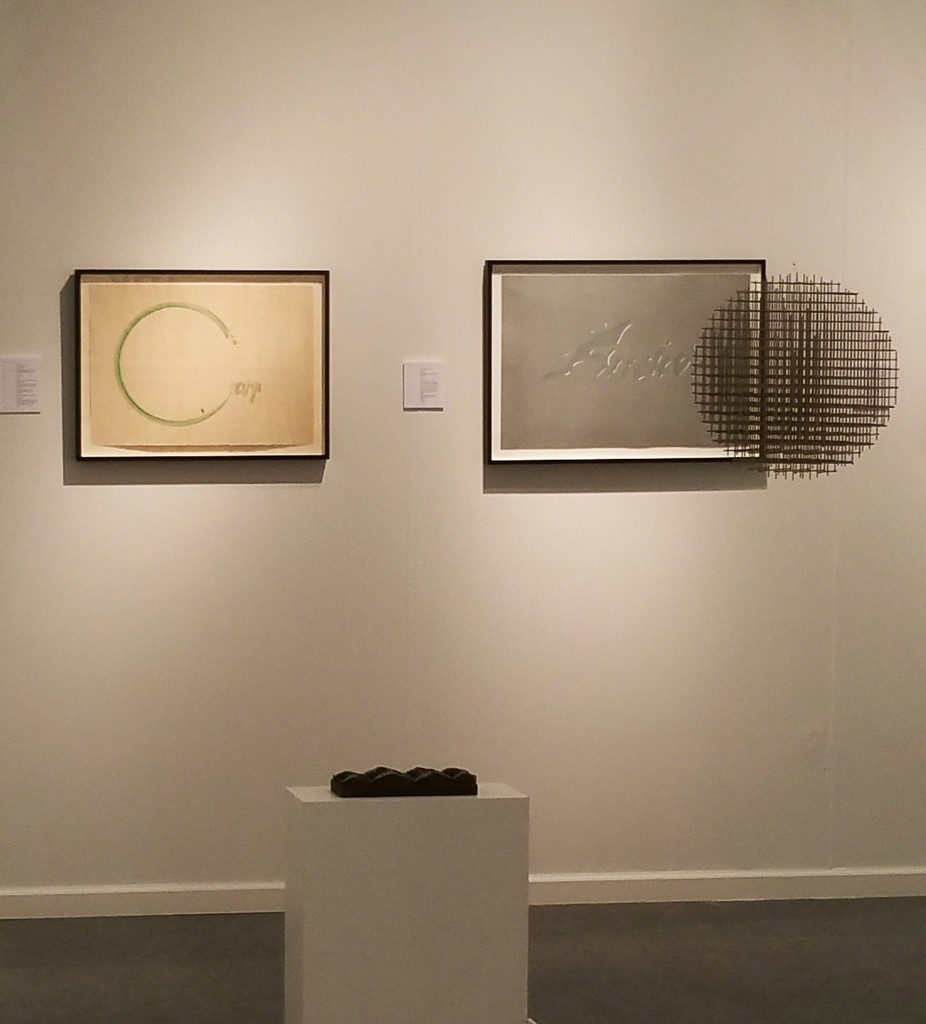 Rare Tamarind prints by Ed Ruscha from 1969, and a François Morellet hanging sculpture from 1966.