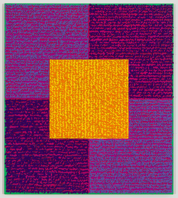 Louise P. Sloane, 'VVPPO', 2015, Painting, Acrylic paint and pastes on aluminum panel, Spanierman Modern