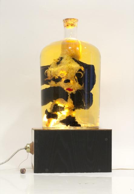Gelitin, 'Untitled', 2006, Glass bottle, soft toy, oil, light box, Perrotin
