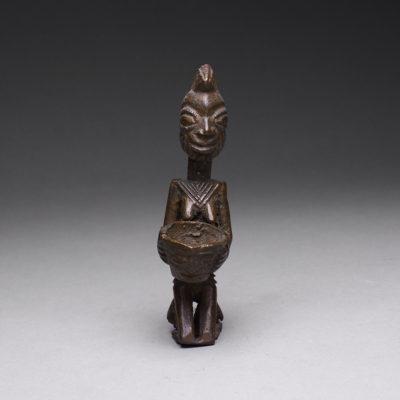 Unknown Yoruba, 'Yoruba Brass Ogboni Sculpture of a Kneeling Woman Holding a Bowl', 16-19, Barakat Gallery