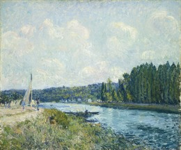 Alfred Sisley, 'The Banks of the Oise', 1877/1878, National Gallery of Art, Washington, D.C.