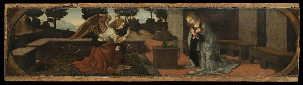 The Annunciation Leonardo da Vinci  1475-79 Oil on panel