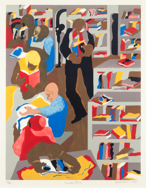 , 'Schomburg Library,' 1987, ACA Galleries