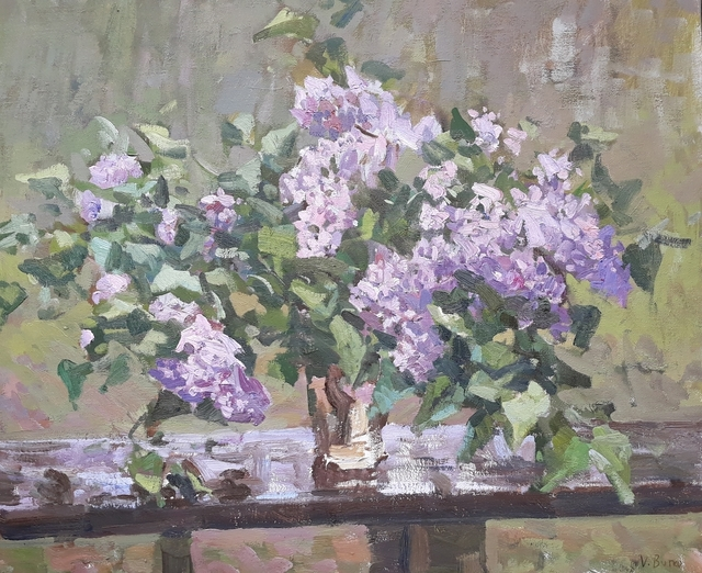 Victor Butko, 'Lilacs on a Table', 2018, Grenning Gallery