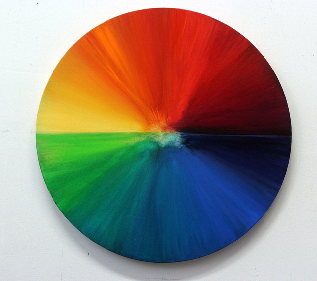 , 'Circle of Life - Food dye color wheel with a set of colorful cards,' 2015, Galleria Ca' d'Oro