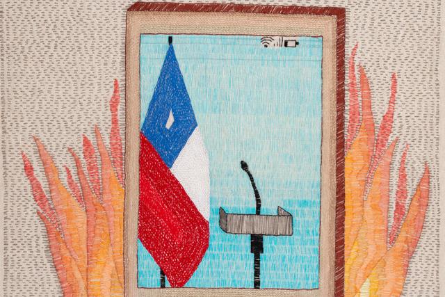 Paloma Castillo, 'Estallido', 2019, Textile Arts, Hand Embroidery on Linen, Isabel Croxatto Galería