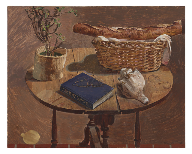 , 'Oval Table with French Bread Basket,' 2019, Diane Rosenstein