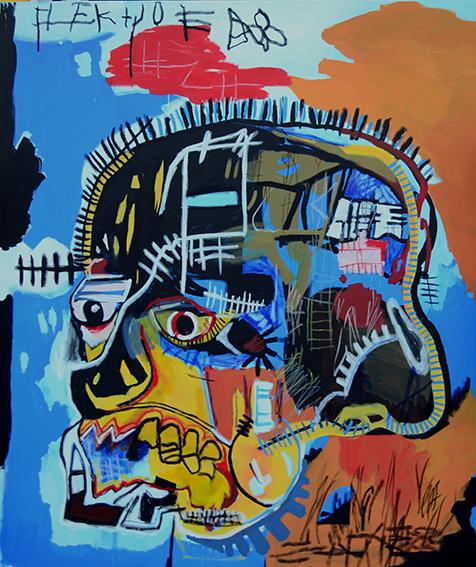 , 'Migrant Reenacment: Skull,' 2015, Galería Alfredo Ginocchio